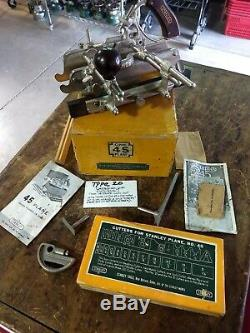 Stanley No. 45 Combination Plane -Complete in Original Box- Excellent condition