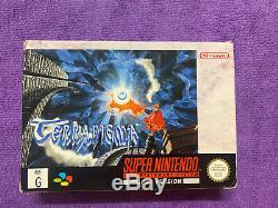 Terranigma Super Nintendo Snes In Box Original Rare Excellent Condition CIB