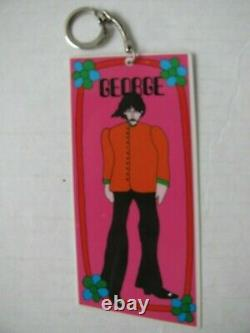The Beatles Set Of Four Yellow Submarine Key Chains 1968 Excellent Condition