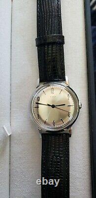 Timex Marlin re-issue, excellent condition, 34mm dial with original box and band