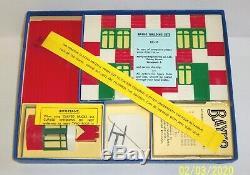 VINTAGE, ORIGINAL 1959 BAYKO BUILDING SET No. 0 BOXED, IN EXCELLENT CONDITION