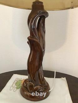 Van Briggle Lamp With Original Shade, Excellent condition