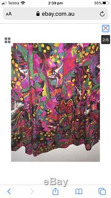 Vintage 1980s Jenny Kee Oz Opera Silk Skirt. Excellent Condition (size 10-14)