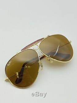 Vintage B&L Ray Ban B15 Aviator Shooter Sunglasses 62mm Excellent Condition Rare