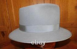 Vintage Westbury Gray Fur Felt Fedora, Sz. 7 3/8 Excellent Condition