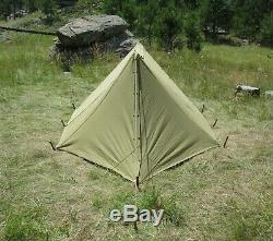 WW2 U. S. Army Pup Tent Complete & Original Early WWII Issue Excellent Condition