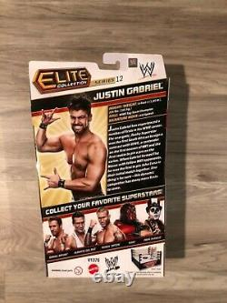 WWE Elite Justin Gabriel Series 12 NEW! RARE! Excellent Condition! The Core