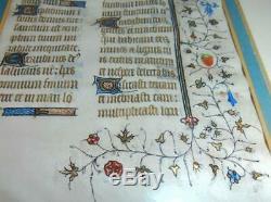 15ème Siècle Antique Lumineuse Manuscrit. Qualité Musée, Excellent Etat