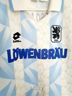 1860 Munich Original Accueil Football Shirt 1993 Taille Grande Excellent Etat