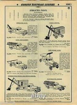 1929 Buddy L Pelle À Vapeur Original. Précédemment Possédé. Excellent État