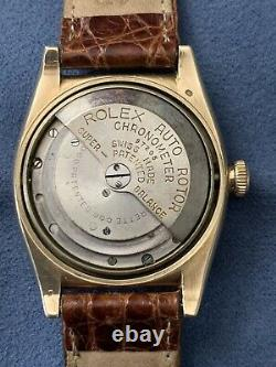 1947 14k Or Rolex Bubbleback Réf. 3131 Cadran Original Excellent État