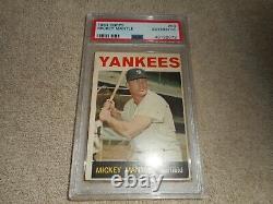1964 Topps Mickey Mantle #50 Authentique Psa Classé Carte Excellent État