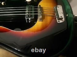 1965 Hofner 184 Guitare Basse, Sunburst, Avec Condition Excellente Cas D'origine