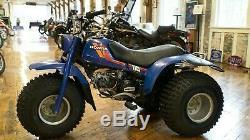 1984 Honda Atc 110 Rare Bleu Usine En Excellent État D'origine, Runs Nouveau