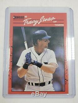 1990 Donruss Cartes De Baseball Tracy Jones Carte Excellent État Detroit Tigers