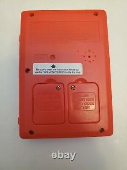 1999 Original Pokemon Pokedex Jeu Portable Tiger Condition Excellent Testé