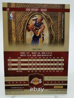 2009-10 Rois De Cour 5x7 Boîte Topper Kobe Bryant /349 Excellent État