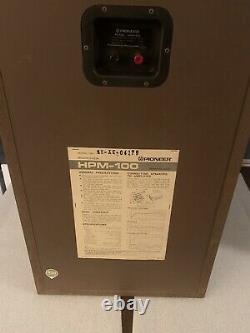 À Proximité De Mint Pioneer Hpm 100, Version 100 Watt, Boîtes Originales, Excellent État
