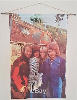 Abba Tissu Tenture Scroll Australie 1976 Excellent État