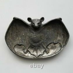 Antique 1890 Art Nouveau Carte Bat Plateau Bradley & Hubbard Excellent État