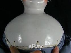 Antique Extra Large 36 Géant Chine Head Doll Flat Top Excellent État Énorme