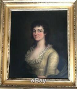 Antique Grand 18ème Siècle Georgian Excellent Etat Peinture Portrait