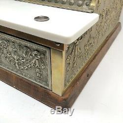 Antique National Cash Register Company Modèle De Trésorerie 332 Bronze Excellent État