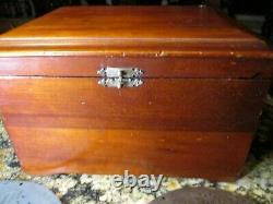 Antique Original Mahogany Regina Disc Music Box W 8 Discs Excellent État