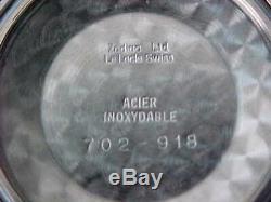 Asymétrique Vintage Original En Acier Inoxydable Zodiac Olympus Excellent État