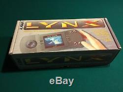 Atari Lynx Original Console Portable En Excellent État Avec Le Paquet