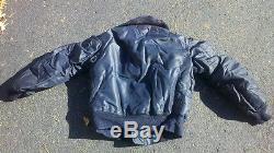 B-15c Rare 1950 Flight Jacket Bleu Taille 38 Excelent Condition100% Original