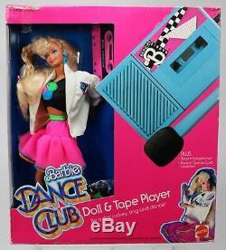 Barbie Doll Dance Club Et Lecteur De Cassettes # 4917 Nib Excellent État 1989 Mattel