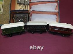 Bing, 0 Jauge Électrique Passenger Set Boxed. Excellente Condition D'origine