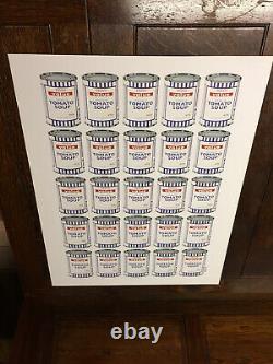 Boîtes De Soupe Banksy Signée Affiche Excellent État