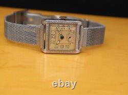 Bulova Wristwatch Vintage 1930s 10 An Calibre Bande Originale Excellent État