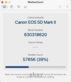 Canon Eos 5d Mark II Slr Numérique Excellent État Boîte D'origine Incluse