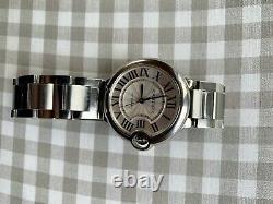 Cartier Ballon Bleu Silver Unisexe Adult Watch Original Excellent État