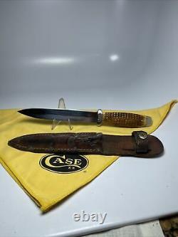 Cas Testé Os Vert 1920-40 Ère Autocollant Chasse Couteau Excellent État