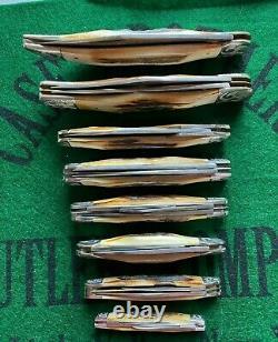 Case XX Scroll Bleu Complet Scrolled Traversin Set 8 Couteaux Excellente Forme # 448