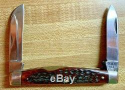 Case XX USA 1964-1969 Grand Couteau Congrès 6488 Red Bone Excellent État