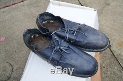 Chaussures Bleu Marine Fanée Des Femmes Guidi Oxford Taille 38 Excellent État Boîte D'origine