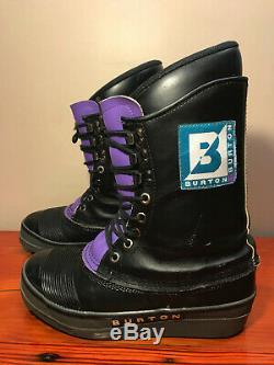 Chaussures Snowboard Vintage Burton. Excellent État D'origine Rétro Pourpre