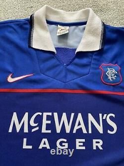 Chemise De Football D'origine Glasgow Rangers. Grand. Excellent État. Rétro 97-99