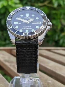 Citoyen 4-824124 Diver W Patina / Kanji Excellent État D'origine Wheel-