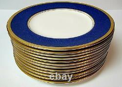 Coalport Bleu Athlone 8 1/8 Assiette De Salade Ensemble De 12 Condition Excellente