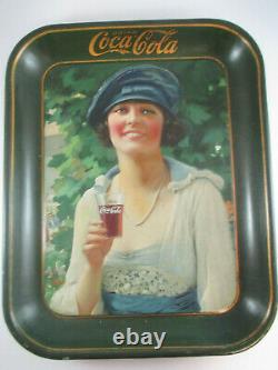 Coca-cola Original 1921 Plateau Navy Girl Excellent État