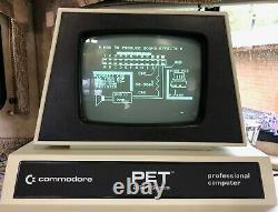 Commodore Pet 2001-8 Avec Boîte D'origine, Vintage Computer En Excellent État