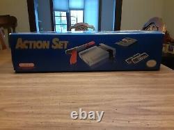 Console De Système Nintendo Nes Originale Action Set Excellent Condition