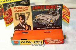 Corgi 261 James Bond Aston Martin, Superb Condition, Excellente Boîte Originale
