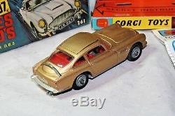 Corgi 261 James Bond Aston Martin, Superbe État, Excellente Boîte Originale